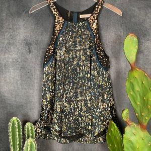 🌵 Rebecca Taylor Embellished Sequin Tank RARE 8